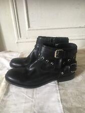 Diesel Black Gold Grenader Leather Ankle Boot Size 43