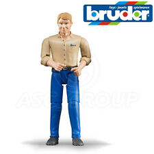 Bruder Toys 60006 Man Driver Figure for 1:16 Scale Toy Models with Movable limbs