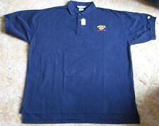 U of Michigan Vintage 1998 Rose Bowl Blue Made by Champion Polo Shirt Size XXL