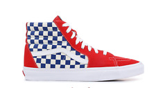 52b5d1d20485 Mens Vans Sk8 Hi BMX Checkerboard True Blue Size 9.5 NIB VN0A38GEU8H DD 621