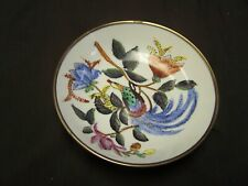 """Vintage Chinese 6"""" Hand Painted Porcelain Bowl Encased In Brass"""