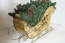 Bethlehem Lights Battery Operated Sleigh with Mixed Greens CLEAR RTL$76