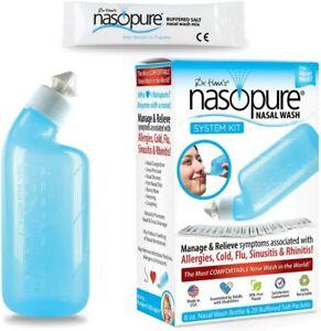 Dr. Hana's Nasopure Nasal Wash System Kit 8oz Bottle 20 Packets BPA-Free 9/2024