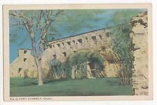 Vue du FORT CHAMBLY Vallée-du-Richelieu Montérégie Quebec Canada 1940s PECO
