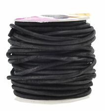 Natural Round Suede Leather String Cord Rope Necklace Jewelry Making 4mm, Black