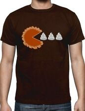 Thanksgiving Pumpkin Pie & Cream Retro T-Shirt Gamers