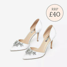 Ex Dorothy Perkins Ivory 'Graciella' Court Shoes Bridal Wedding Shoe Size 3 - 9