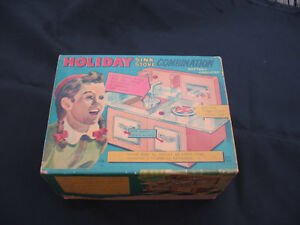 vintage toy stove Holiday with original box