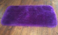New Fur Washable Rug . Purple Colour Retro 73cm X 137 Cm Fluffy Free Postage .💜