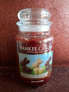 Yankee Candle Large Jar Chocolate Bunnies Deerfield Very Rare