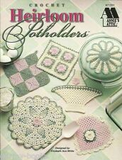 Heirloom Thread Pot Holders Crochet Instruction Pattern Book Vintage Style NEW
