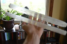"CL: 2 14"" Selenite Wands Sticks Platforms Healing Crystal Mineral Specimen"