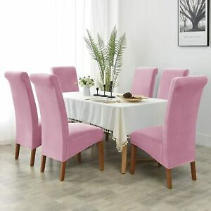 Velvet Large Chair Covers for Dining Room Slipcover for Large Dining Chair