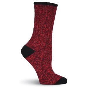 K.Bell Women's Soft Marl Red Boot Crew Socks fits shoe Size 4-10 Free Shipping