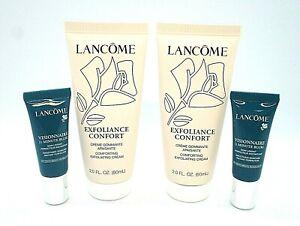 Set/4 Lancome-Exfoliance Confort Exfoliating Cream / Visionnaire Blur ~ 2.oz
