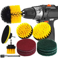 12Pcs/Set Tile Grout Power Scrubber Cleaning Drill Brush Tub Cleaner Combo Scrub