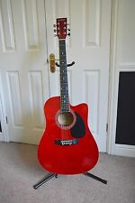 Acoustic Guitar Uno by Hutchins Red 6 string (used)