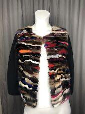 Diane Von Furstenberg Mink Fur Cardigan  Multicolor NWT Authentic DVF