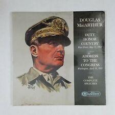 DOUGLAS MacARTHUR The Farewell Addresses SPC100 LP Vinyl SEALED
