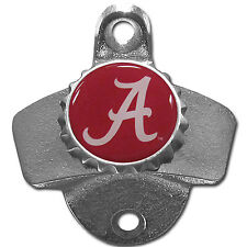 Alabama Crimson Tide NCAA Wall Mount Metal Pub Bar Bottle Opener