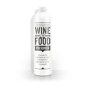 Wine & Food Preserver Gas - Pure Inert Argon in an Aerosol Can by Preservintage