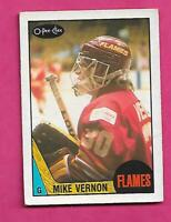 1987-88 OPC # 215 FLAMES MIKE VERNON ROOKIE VG+  CARD (INV# C4612)