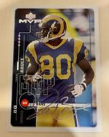 1999 Upper Deck MVP Silver Script St. Louis Rams Football Card #154 Isaac Bruce