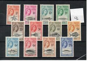 Tristan Da Cunha - Elizabeth  1960  (13) - 12 values to 2/6d - mint - SG Cat £23