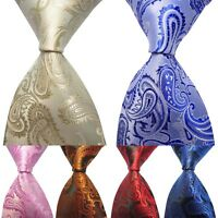 CHIC Mens Business New Silk Classic Floral jacquard Woven Wedding Tie Necktie