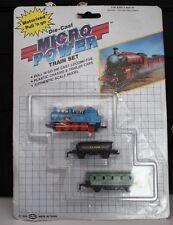 Die-cast Locomotive Micro Power Diecast Soma Blue Train Set Vintage 1989