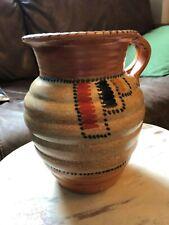 "More details for art deco crown ducal charlotte rhead ""stitch"" jug vase orange brown"