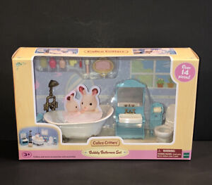 Calico Critters Bubbly Bathroom Set~Over 14 Pieces for Bathroom~New In Box