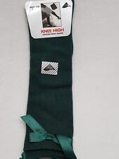 Girls Ladies Knee High Girls School Socks With Satin Bow all Size 1 Pair