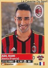ADIL RAMI # FRANCE AC.MILAN RARE UPDATE STICKER CALCIATORI 2014 PANINI