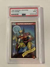 1990 Marvel Universe Series 1 Wolverine #10 PSA 9 MINT Low Pop
