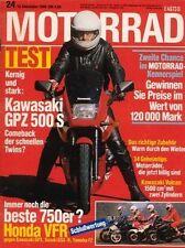 M8624 + Test KAWASAKI GPZ 500 S + Armec-Vmax-Gespann + MOTORRAD 24 1986