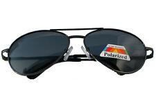 POLARIZZATO METALLO Nero Aviator Occhiali da Sole da Guida Uomo / Donna raggi UVA / UVB