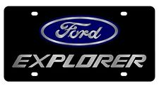 New Ford Explorer Blue Logo Acrylic License Plate