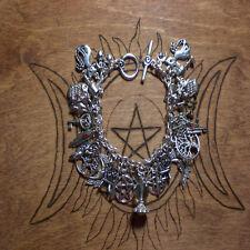 Goddess Magic Pentagram Wicca Pagan Witch Talisman 38 charm bracelet