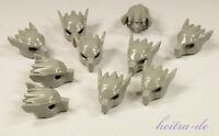 LEGO - 10 x Wolfsmaske hellgrau / Maske Kopf Wolf / Mask Wolf / 11233 NEUWARE