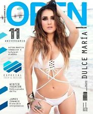 OPEN MAGAZINE DULCE MARIA RBD DICIEMBRE DECEMBER 2016 REVISTA OPEN MEXICO NEW
