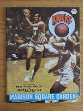 MSG October 13 1970 NEW YORK KNICKS vs BOSTON CELTICS Program BILL BRADLEY
