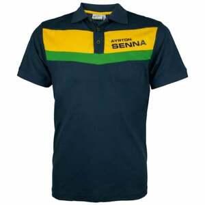 Ayrton Senna Collection F1 Racing Polo Shirt II Navy