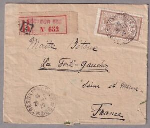 Registered Cover Constantinople Turkey To France Tresor Et Postes *506* 1920