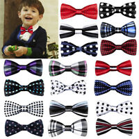 New Fashion Children Kids Boys Toddler Baby Solid Bowtie Wedding Bow Tie Necktie