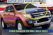 MATTEBLACK RAPTOR HOOD SCOOP BONNET COVER WILDTRAK FORD RANGER MK1 PX 2011-2015