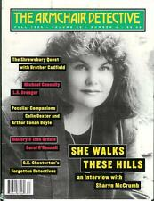 THE ARMCHAIR DETECTIVE Fall 95, rare US crime mag, Connelly, Dexter, McCrumb