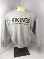 Vtg 90s CSU OHIO Cleveland State Univ football embroidered XL college sweatshirt