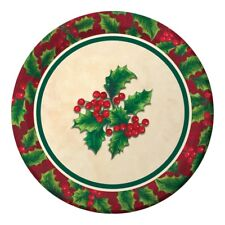 """Boughs of Holly 8 7"""" Dessert Cake Plates Christmas Party"""