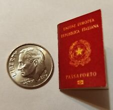Miniature Italian  Passport  GI Joe Action Figure 1/12 Scale Jason Bourne Secret